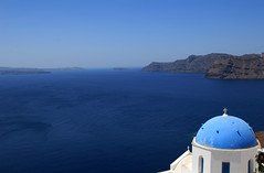 View towards the Caldera, From Oia - by ehpien
