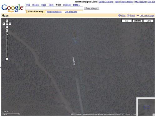 Rakete bei Google Maps