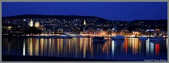 Welcome to Zurich Bellevue (tom29ger) Tags: lake geotagged lights switzerland see licht nightshot zurich lakeside zuerich schatten nachtaufnahme seeufer seascpae metropoles tom26ger tom29ger