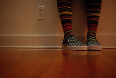 fuzzy socks (alternativefocus) Tags: reflection socks fuzzy vans groundlevel grainy stripy offthewall stripedsocks chequered stripysocks alternativefocus