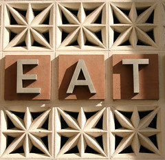 Eat (David Gallagher) Tags: sanfrancisco sign architecture eat chow foundinsf sfsu 131 creativearts i500 gwsf5party gwsflexicon