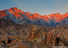 Whitney-Alabama Hills Morning (Steve's Reflections) Tags: explore mtwhitney lonepine globalvillage us395 alabamahills naturesfinest globalcity superaplus aplusphoto superbmasterpiece invitedphotosonly gvadminshalloffame itsabeautifulgv sierravisions