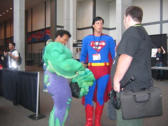 superheroes (liuliuliu) Tags: austin superman sxsw superheroes incrediblehulk sxswi sxswfilm sxsw2007