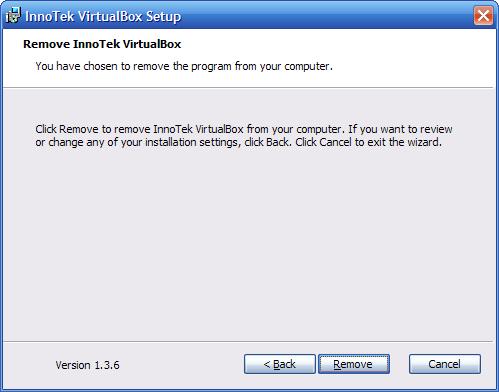 VirtualBox - aggiornarlo - 6 - disinstallazione - remove 2