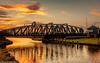 Weaver at sunset (1 of 5) (andyyoung37) Tags: frodsham riverweaver swingbridge refelections sunrise england unitedkingdom gb