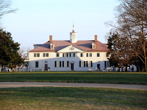 Mount Vernon from across the bowling green