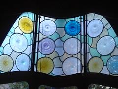 Windows inside Casa Batll (Rachel Says Hi) Tags: barcelona casabatllo casabatll