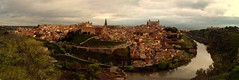 Toledo, Spain - Panorama (chrisjfry) Tags: city sunset panorama espaa river photography town spain catholic muslim hill christian toledo jew jewish sephardim