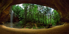 Ash Cave, Hocking Hills, Ohio (Bryan Olesen) Tags: ohio nature landscape fisheye cave hockinghills ashcave bryanolesen specnature ruralohio bestnaturetnc06 mslandscape favescontestfavored