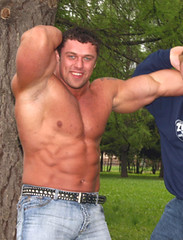 Michael Sidorychev (157) (Pete90291) Tags: pecs muscular chest tattoos strong muscleman biceps abs strongman strongmen worldsstrongestman hugethighs hugelegs michaelsidorychev tattooedmuscle mikhailsidorychev
