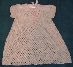dantel anglez bebek elbisesi