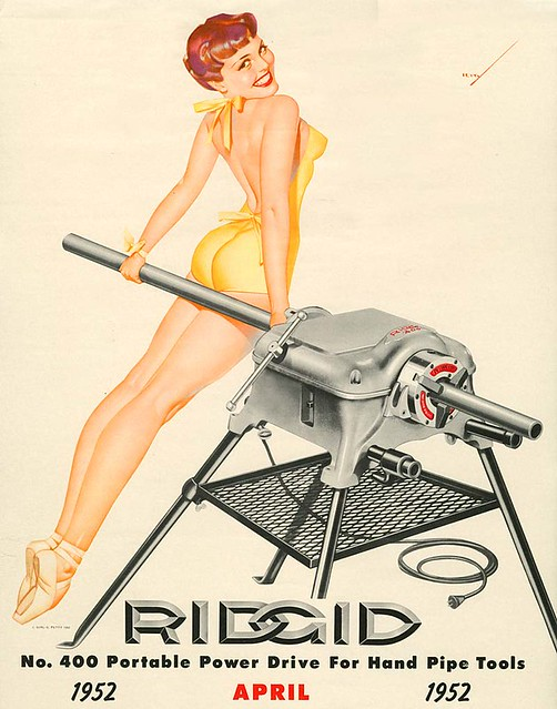 George Petty, Ridgid ad, 1952