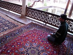 Praying in Abyaneh