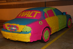 The Post-It Note Car (The Original Post-it Note Jaguar!). - by Scott Ableman