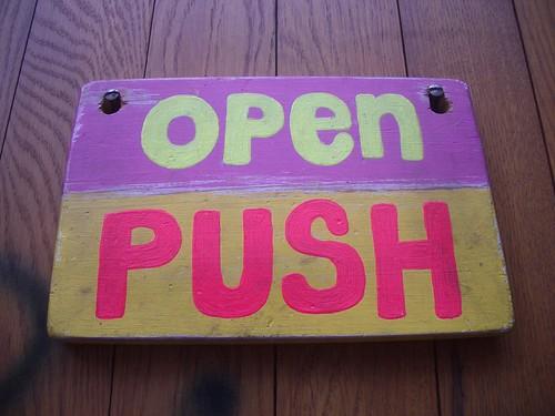 open - push