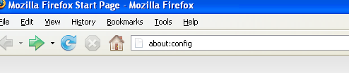 About config in Firefox