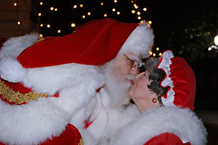 Santa and Mrs. Claus Kissing