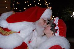 Santa and Mrs. Claus Kissing