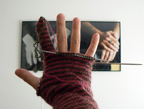 stripy alpaca gloves