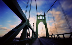 December's Bridge, 30 seconds (Zeb Andrews) Tags: clouds oregon portland crossprocessed bridges stjohns pinhole pacificnorthwest zeroimage expiredfilm stjohnsbridge zero69 instantfave bluemooncamera zebandrews abigfave zebandrewsphotography