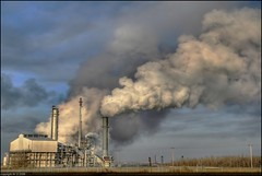 Pumping it out (A guy with A camera) Tags: plant canada industry landscape fz20 site flickr industrial factory edmonton smoke air steam pollution alberta production climatechange hdr highdynamicrange globalwarming manufacturing fossilfuels tonemapped outstandingshots abigfave firsttheearth earthsgrowingcrises 2007firsttheearthwinners theartlair