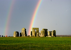 Stonehenge Double Rainbow - by LuluP