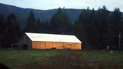 Tillamook Barn at sunset