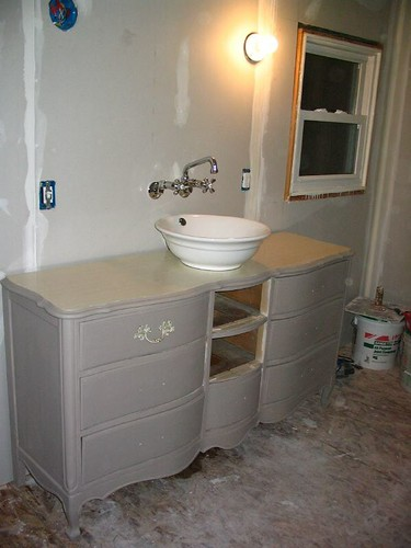 Bathroom vanity - dresser and vessel sink