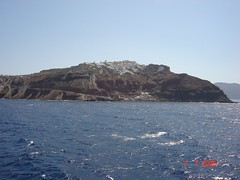 Pulau Santorini, Greece Dari Jauh
