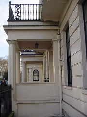 London SW1 Belgravia (londonconstant) Tags: london architecture vanishingpoint balcony columns style architect porch builder doric sw1 greekrevival belgravia etonsquare thomascubitt