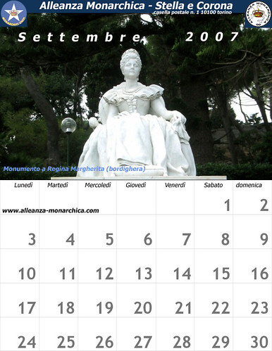 Calendario settembre 2007