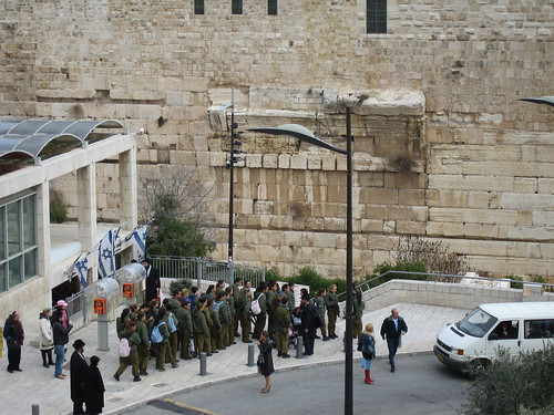 Soliders Marching at Kotel