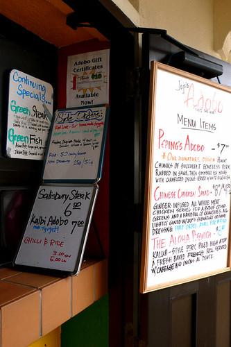 jojo's adobo menu