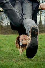 upside down girl (hool a hoop) Tags: blue grass emily upsidedown down upside upsidedowngirl