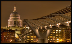 St Pauls - Millennium Bridge (Antony....) Tags: longexposure england london night bravo nightshot nightsky riverthames e500 zd 1445mm specobject superaplus aplusphoto