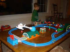 TRAIN TABLE: Built by Dad
