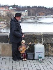 Marionette Air Guitar (justatad) Tags: prague charlesbridge marionette