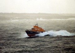 Lifeboat Aran Islands (Relief) (Ronanfitzy) Tags: life sea rescue water weather speed island coast boat marine waves stormy lifeboat maritime sar aranislands inishmore rnli inismaan severnclass