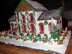 Gingerbread house (ineedathis) Tags: christmas miniatures baking candy decorating gingerbreadhouse merrychristmas lifesavers gumpaste