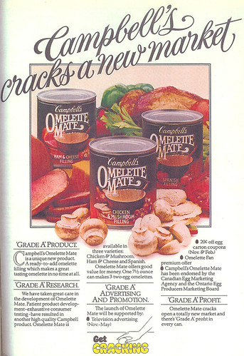 Vintage Ad #148 - Omelette Filling In A Can