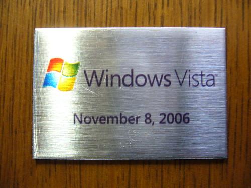 SHIP IT Award for Windows Vista