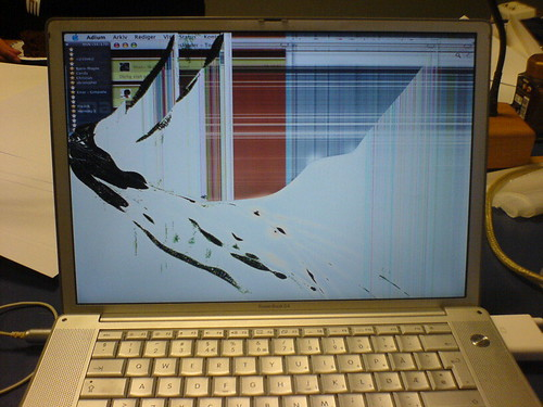 Ødelagt PowerBook skjerm