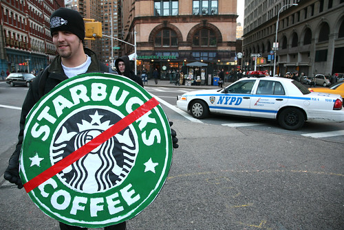 Reverend Billy Starbucks Protest