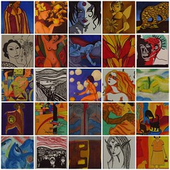 "Mosaic of My Favorite ""Hommage to Artists"" atcs"