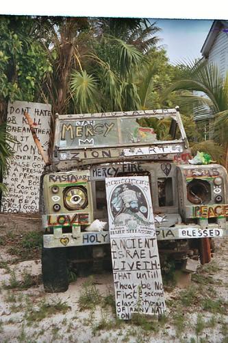 Rastafarian jeep