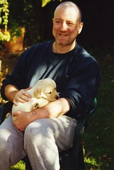 Bess and puppies - 2000 (Chris&Steve) Tags: dog dogs puppy puppies labrador litter labs labradorretriever ourgarden 10millionphotos p100i v100i