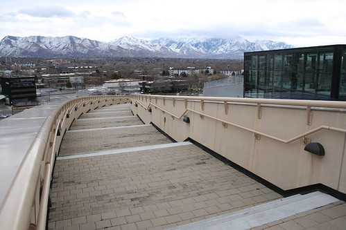 Salt LAke City Library Concrete wall walkway
