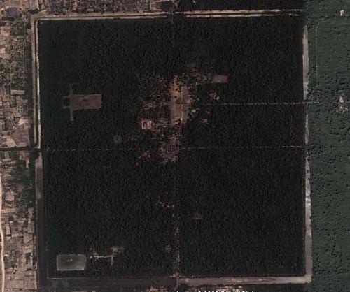 吳哥城衛星圖
