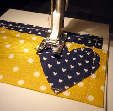Stitching the card