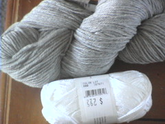 linen grey white cotton
